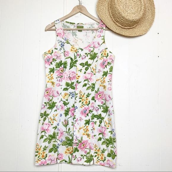 Esprit Dresses & Skirts - Vintage Esprit Floral Button Front Sheath Dress
